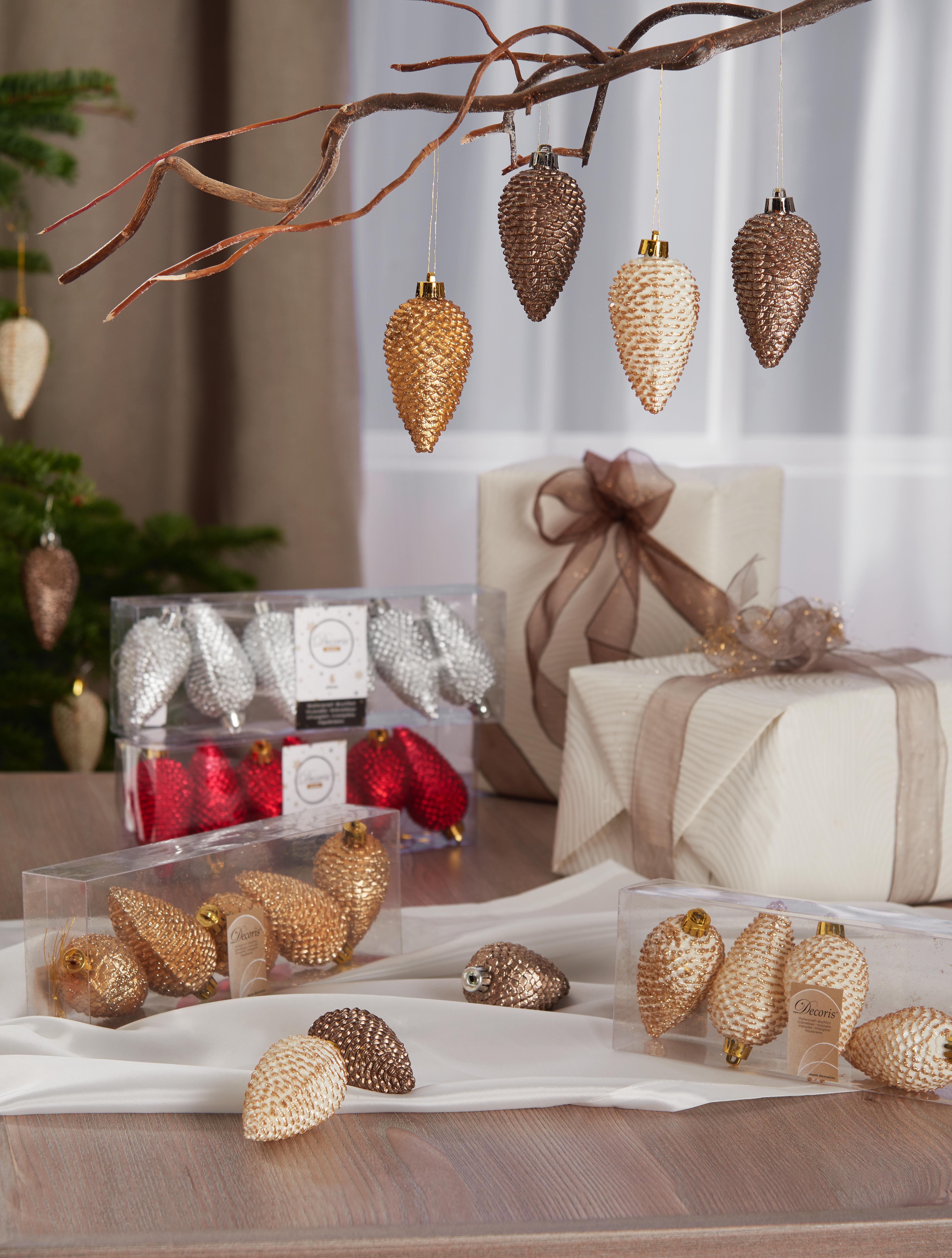 Christbaumschmuck Tannenzapfen In Gold Und Bronze Weihnachtsdeko