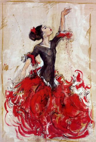 Marta wiley flamenco peintures dessins flamenco en - Dessin danseuse de flamenco ...