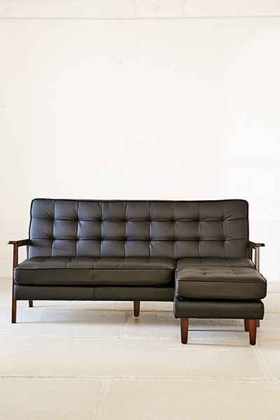 Campbell Vegan Leather Sectional Sofa Urban Outfitters Leather Sectional Leather Sectional Sofas Sectional Sofa