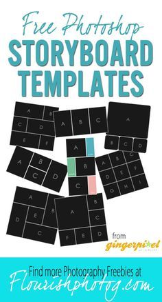 Free Photoshop Storyboard Collage Templates From Gingerpixel