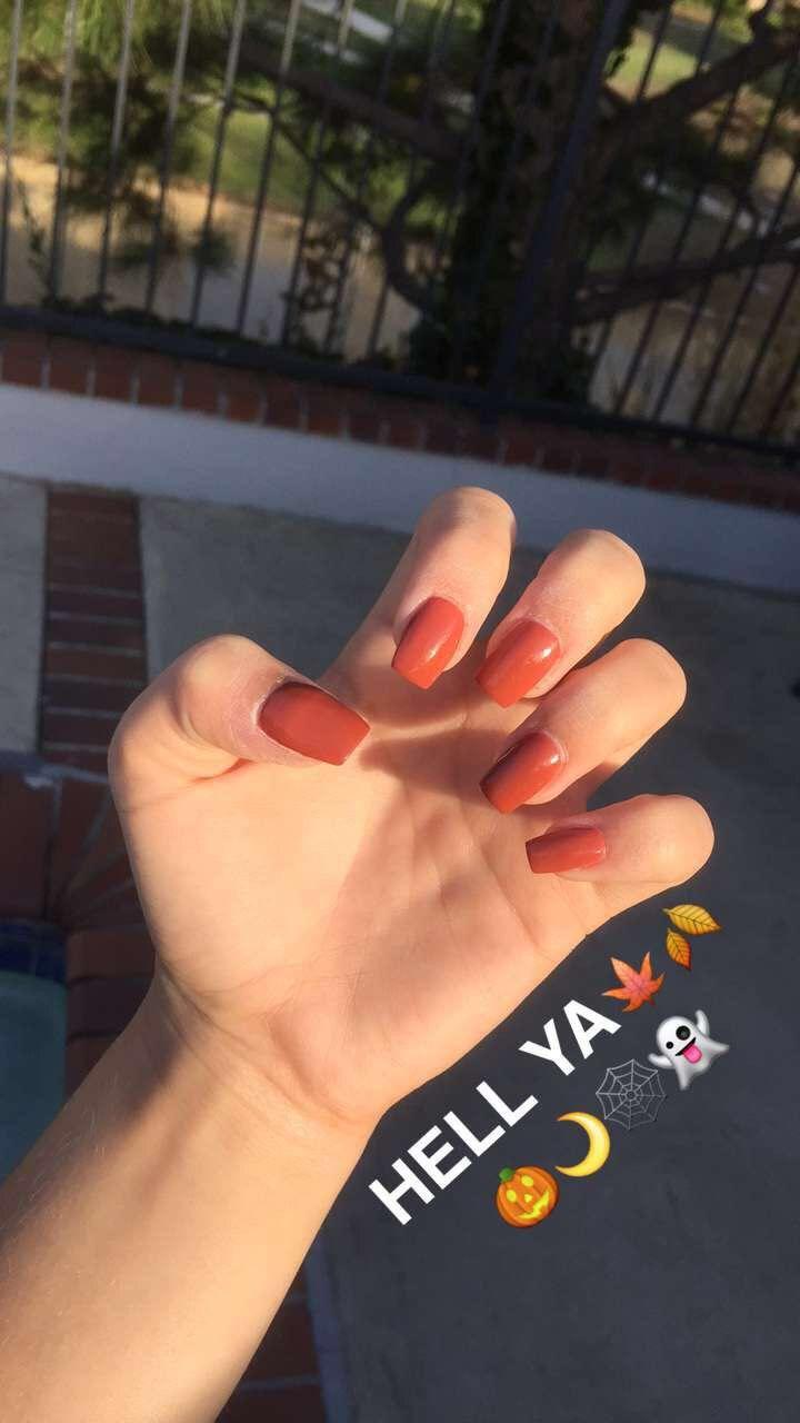 Burnt orange nails for fall