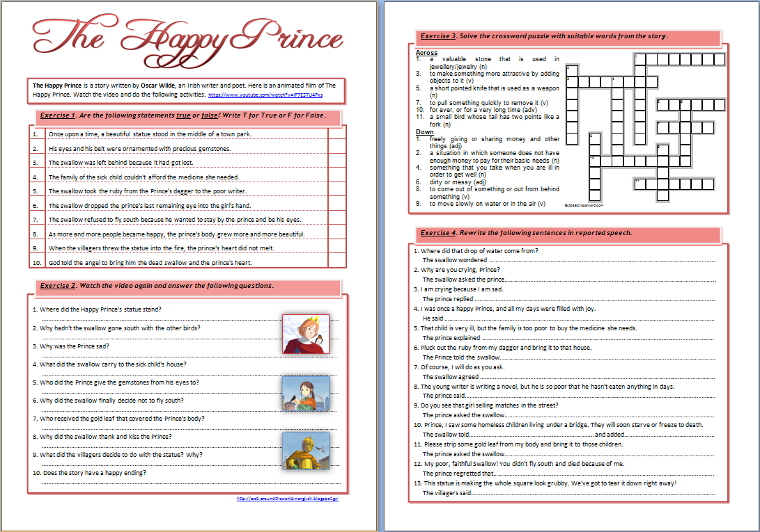 the happy prince by oscar wilde vocabulary 1 essay Picturing vocabulary make use of mouse to attract what comes up in regards to the given word  1 examples andor  the happy prince oscar wilde essay.
