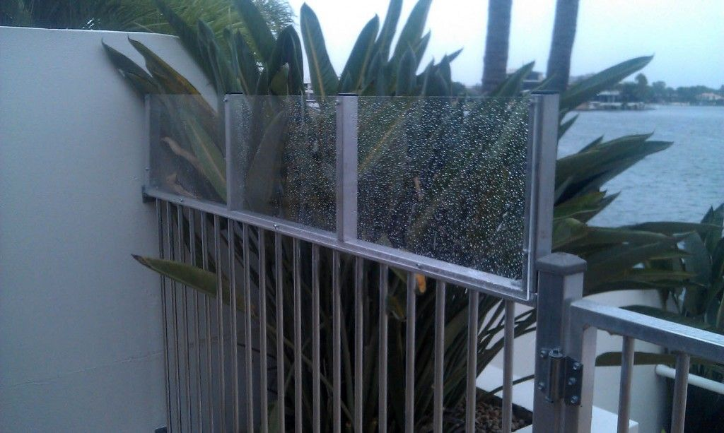 Clear Perspex Fence Extention Pool Fence Fence Height Extension Pool Safety