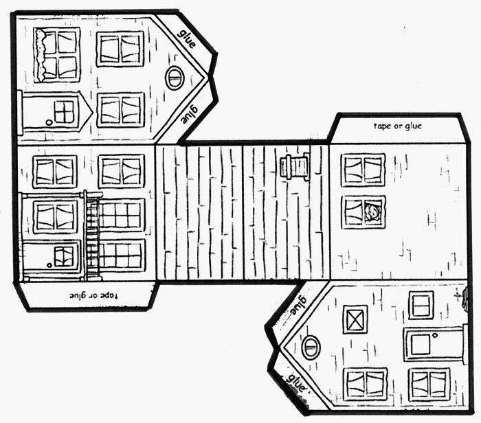 Mon projet maison en maternelle thema huis en verhuizen for Maison en carton a colorier