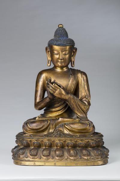 Importante sculpture du bouddha vairocana en bronze dor chine dynastie ming mis en - Meubles asiatiques bordeaux ...