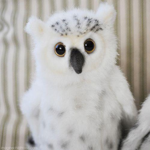 Baby Snowy Owl Snowy Owl Lifelike Stuffed Animals Toys That
