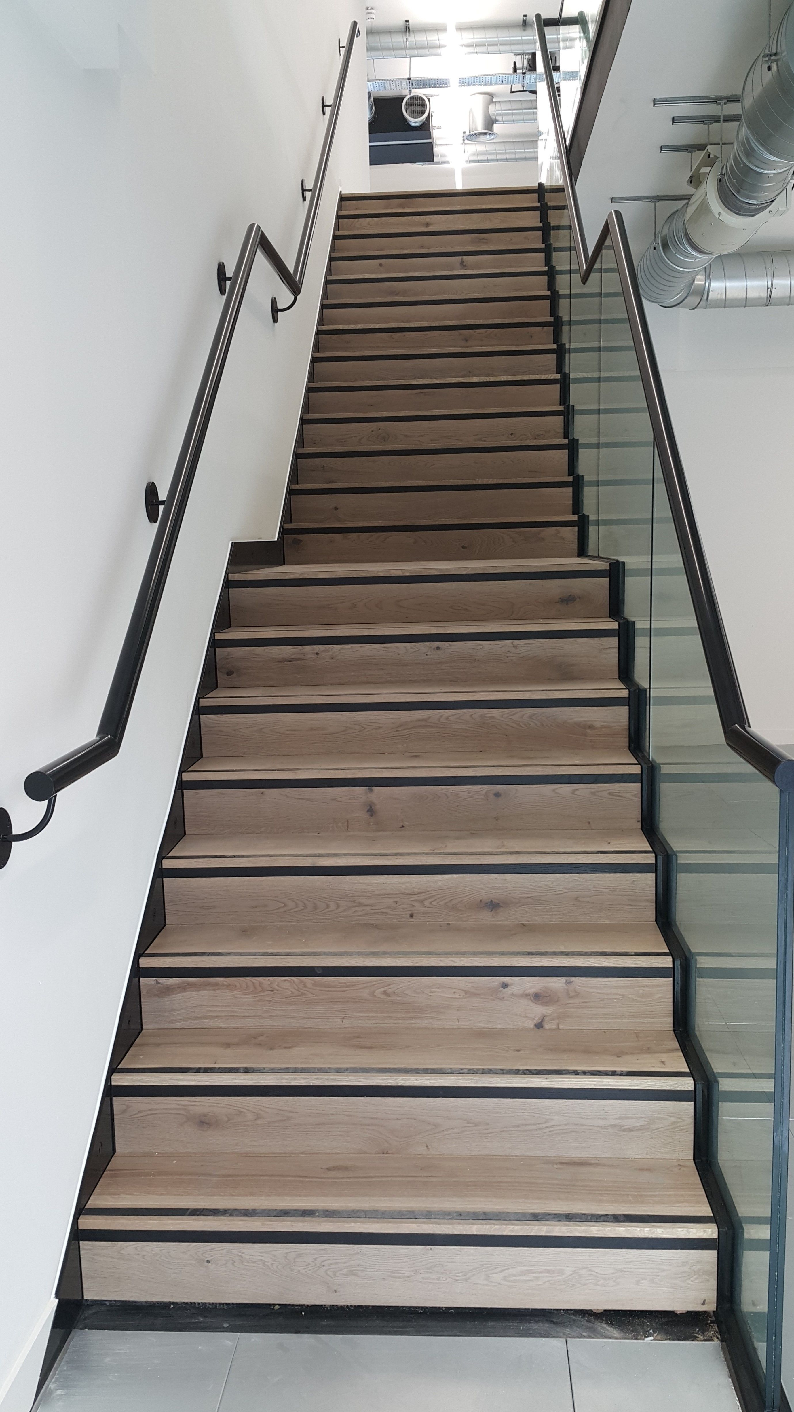 Glass Infill Photo Gallery: This Metal And Wooden Floating Staircase With Glass Infill Panels Created By Metcalfe Metal