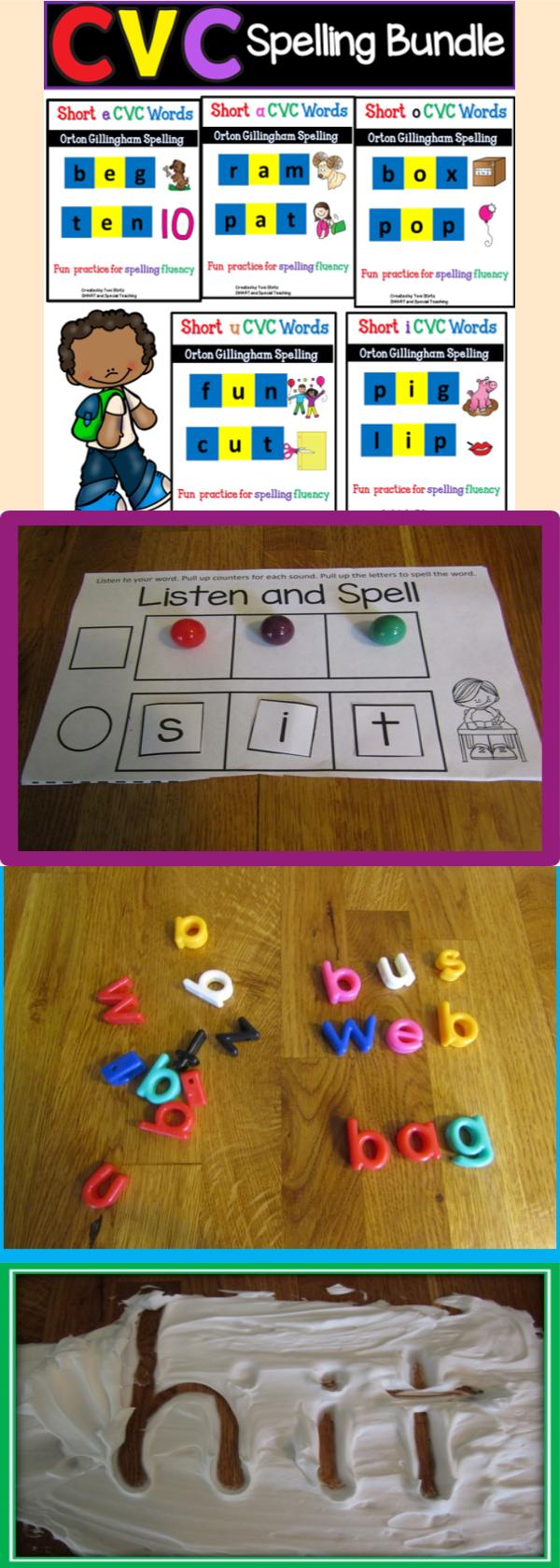 Cvc Spelling Dyslexia Activities Reading Bundle Dyslexia [ 1680 x 600 Pixel ]