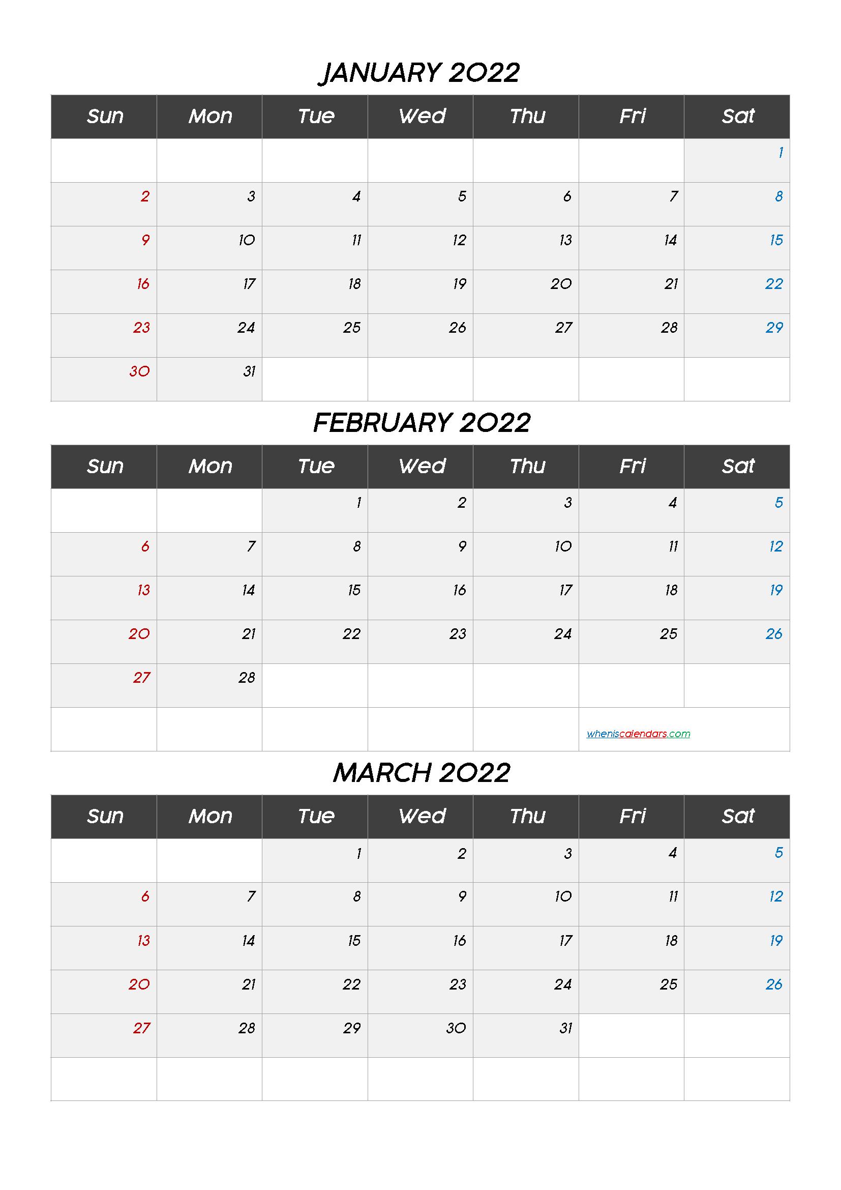 Free Calendar January February March 2022 Q1 Q2 Q3 Q4 In 2020 Calendar Printables Printable Calendar July Calendar Template
