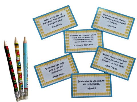 Printable Lunch Box Notes - Quotes - Enough for the whole school year!