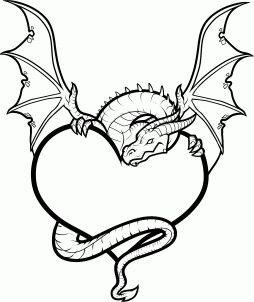 Pin By Anna Harris On Unicorns Dragons Heart Drawing Broken Heart Drawings Dragon Drawing