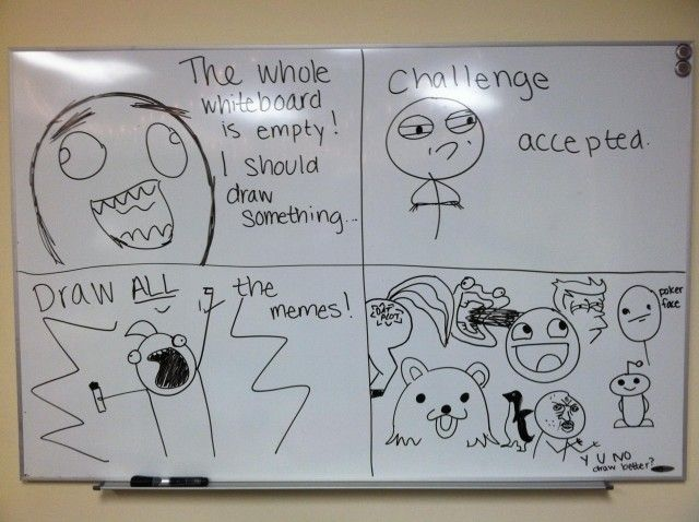 Le Whiteboard Memes Self Outing White Board