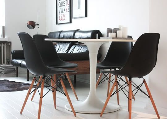 eames dark legs tulip table Google Search Tulip table black