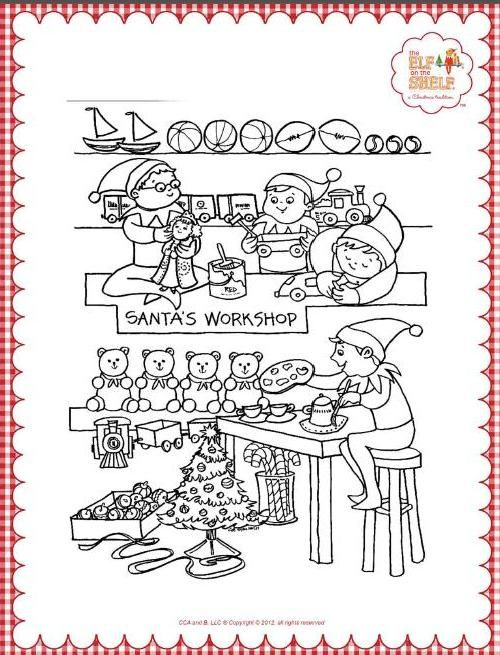 Elf on the Shelf Coloring Pages | elf on the shelf | Pinterest