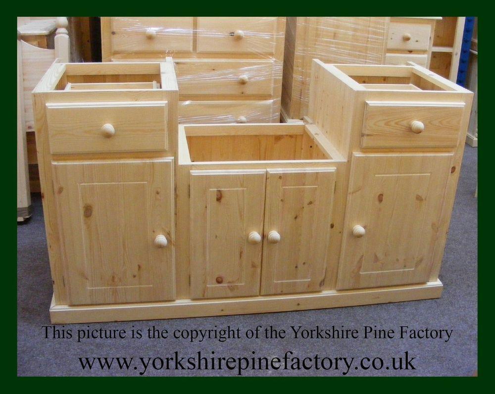 Solid Pine Handmade Belfast Kitchen Sink Unit Cabinet Ref Bksc4d2dr150 In Home Furniture Diy