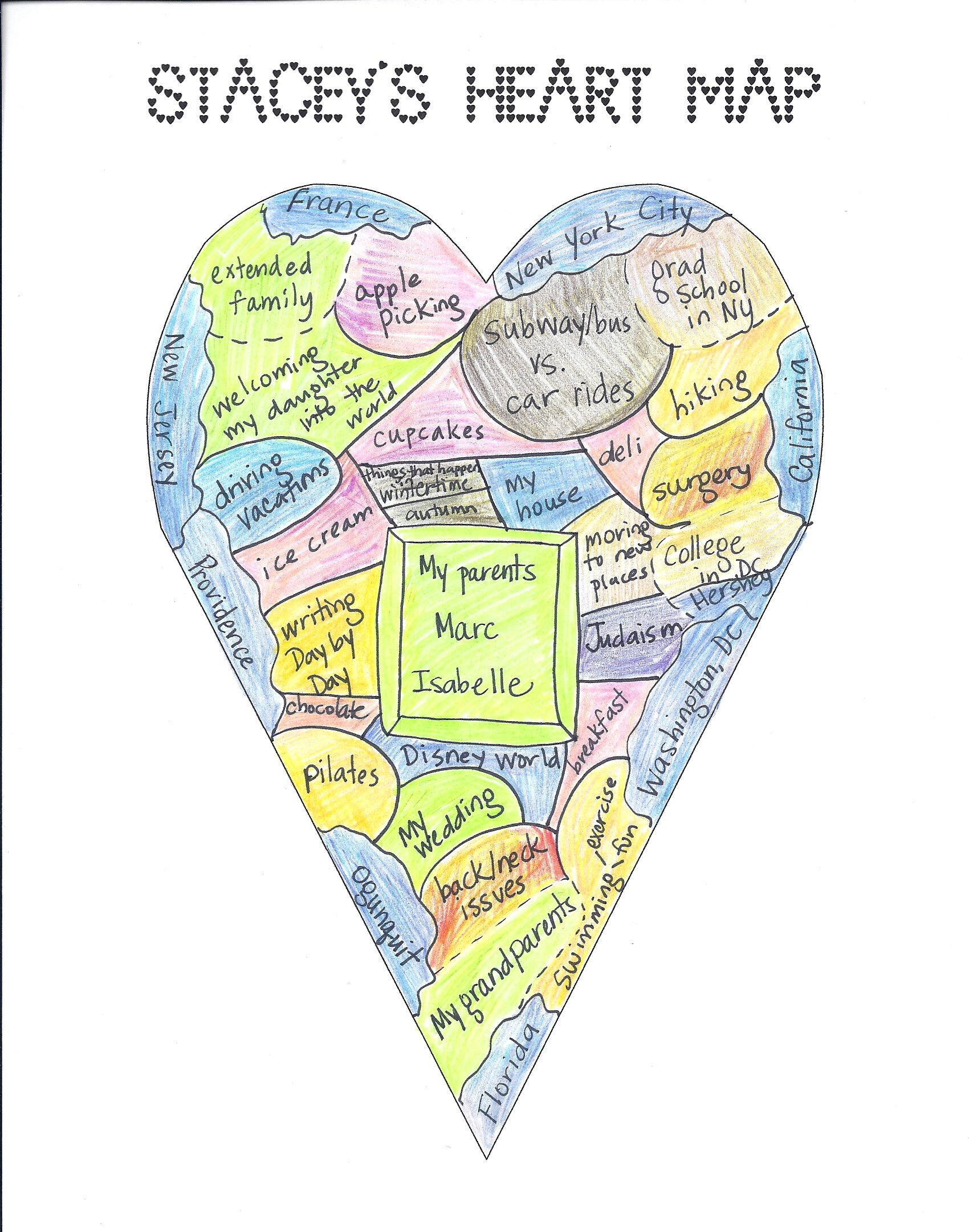 Updating Your Map  Heart map School and Teaching ideas