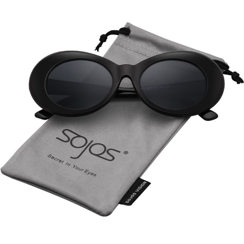 531674677ef SOJOS Clout Goggles Oval Mod Retro Vintage Kurt Cobain Inspired Sunglasses  Round  fashion  clothing