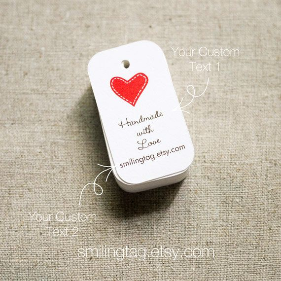 I Heart You Personalised Gift Tags Wedding Favor Thank Hang