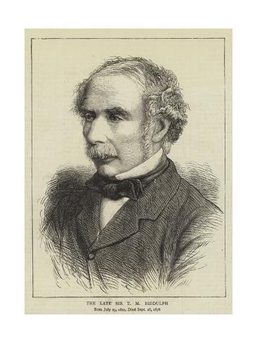 size: 24x18in Giclee Print: The Late Sir T M Biddulph :