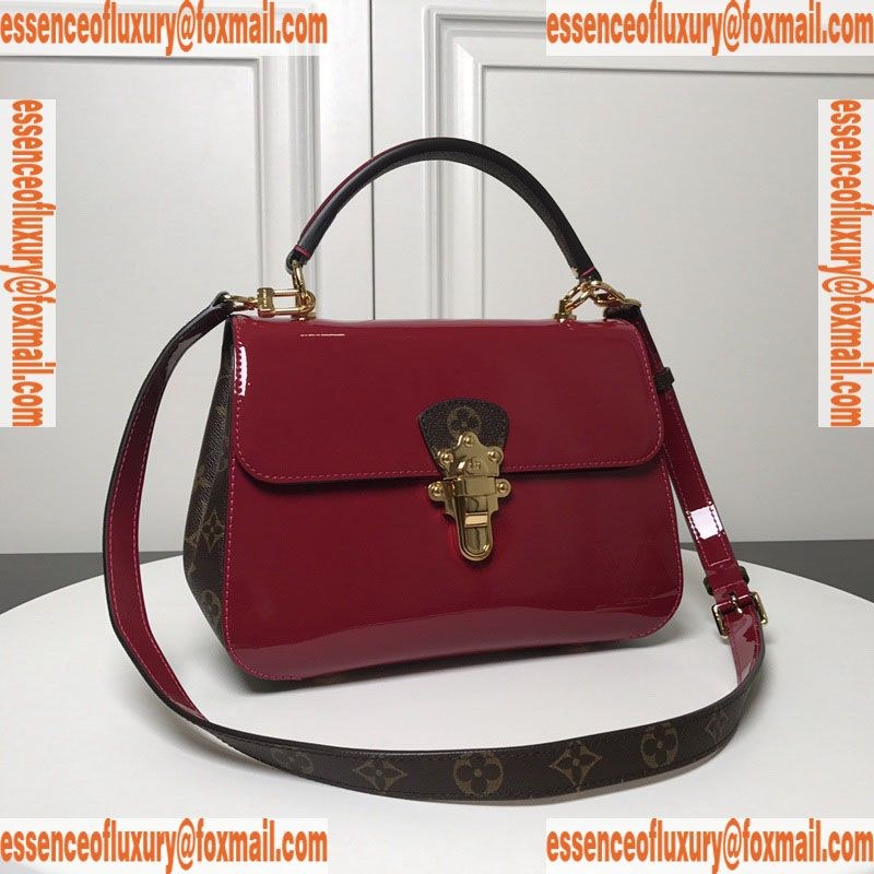 8660a1c0 Louis Vuitton Cherrywood PM Patent Leather Top Handle Bag LV Luxury ...