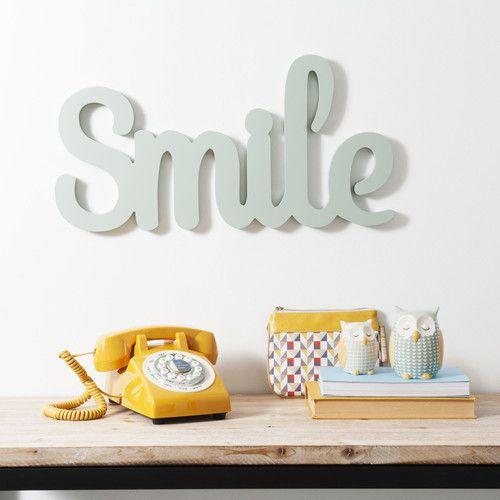 Déco Murale Smile En Bois Vintage | Maisons Du Monde | Maison Du