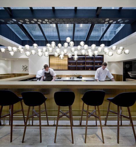 Restaurant With Open Kitchen: Pollen Street Social / Neri