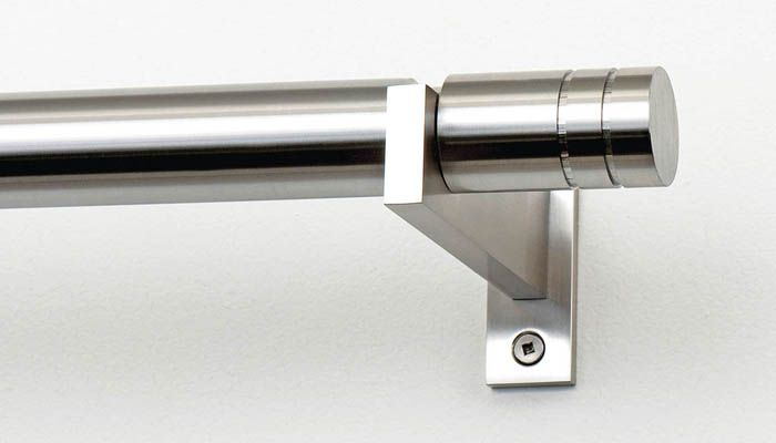 Mira Nickel Finish Stainless Steel Curtain Rods Curtain Rods