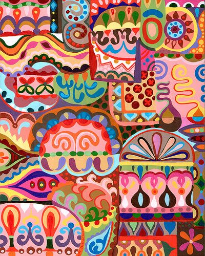 Colorful abstract ipad sleeve art designs indian also india painting pattern pinterest arte indio and rh co
