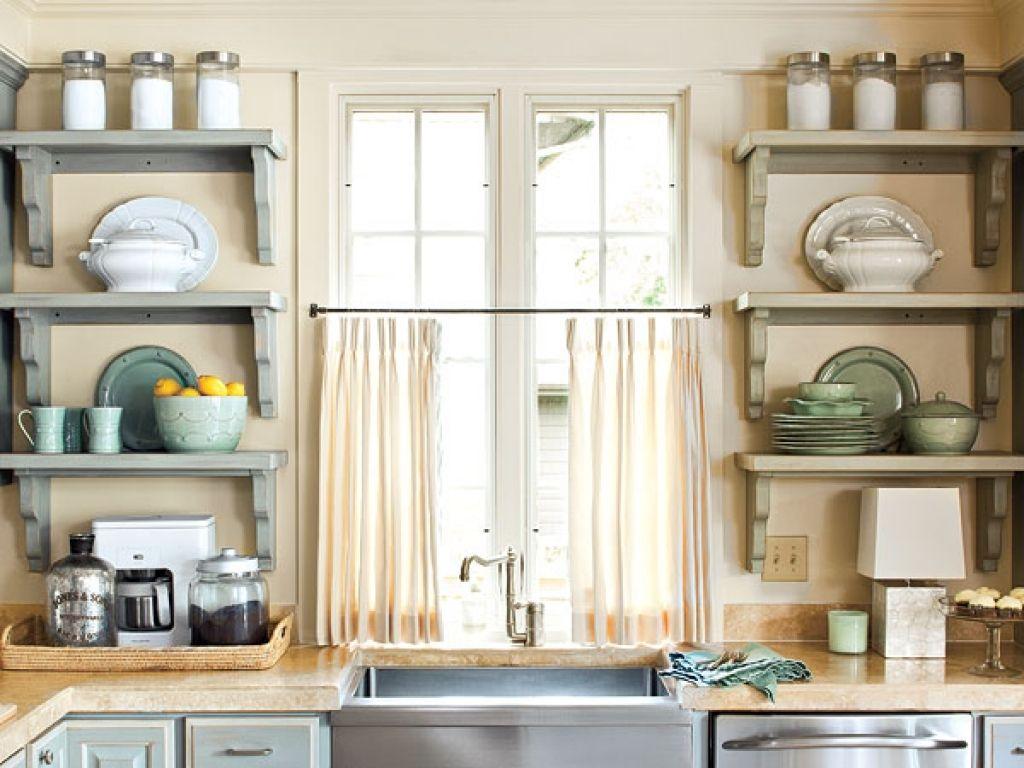 Sweet Kitchen Shelves Instead Of Cabinets Open Kitchen Shelves