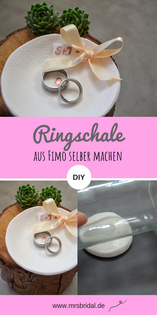 Alternative Zum Ringkissen Ringschale Aus Fimo Selber Machen Mrs Bridal Ringschale Ringkissen Ringkissen Hochzeit