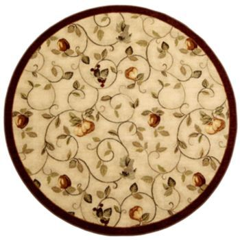 Brumlow Mills Miracle Fruit Rug 8 Round Rugs Accent Pieces Fruit