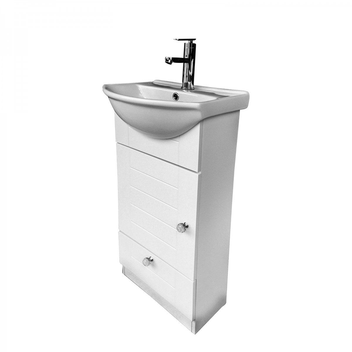 Bathroom Vanity With Sink Faucet Cabinets Easy Assemble Install ...