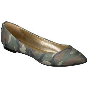 Women's Xhilaration® Lisa Flat - Camouflage...stud detail on the back, no idea what to wear these with but so cute!! =)