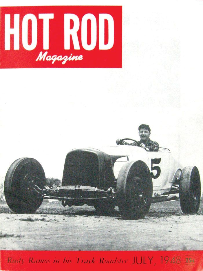 HOT ROD, July 1948. See all HOT ROD covers at http://www.hotrod.com ...