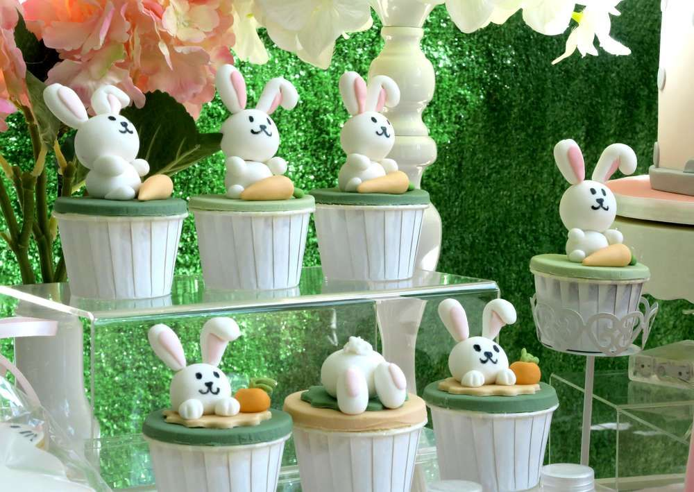 How cute are the cupcakes at this Bunny Rabbit themed ... Rabbit Theme Ideas For Kitchens on french country kitchen theme, ideas for kitchen design, ideas for kitchen decorating, ideas for kitchen art, ideas for kitchen wallpaper, ideas for kitchen organization, ideas for kitchen color, ideas for kitchen space, ideas for kitchen lighting, decoration for kitchen theme,