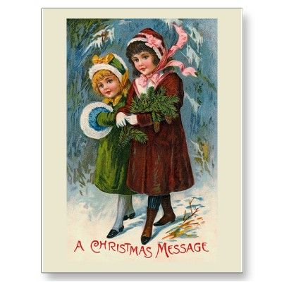 """A Christmas Message"" Postcard"