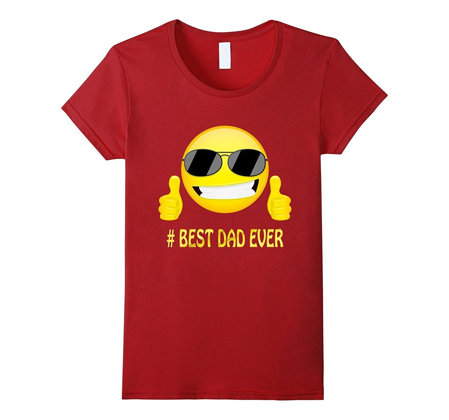 Best Dad Ever Emoji Tshirt For Dad Father's Day Gifts