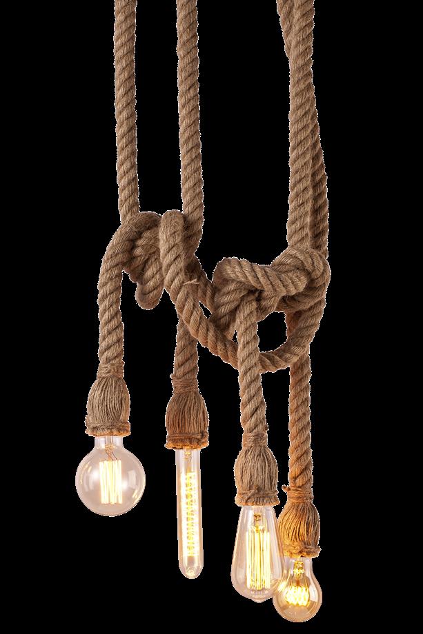 Touwlamp Met Vier Lichtpunten Verlichting Touw Lampen Eettafel