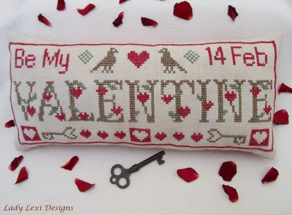 Be My Valentine Cross Stitch ePattern. $5.00, via Etsy.