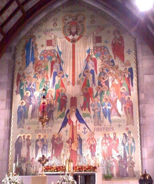 Vietnamese Wedding Altar: The Mural Behind The Altar At St. Anthony Catholic Church