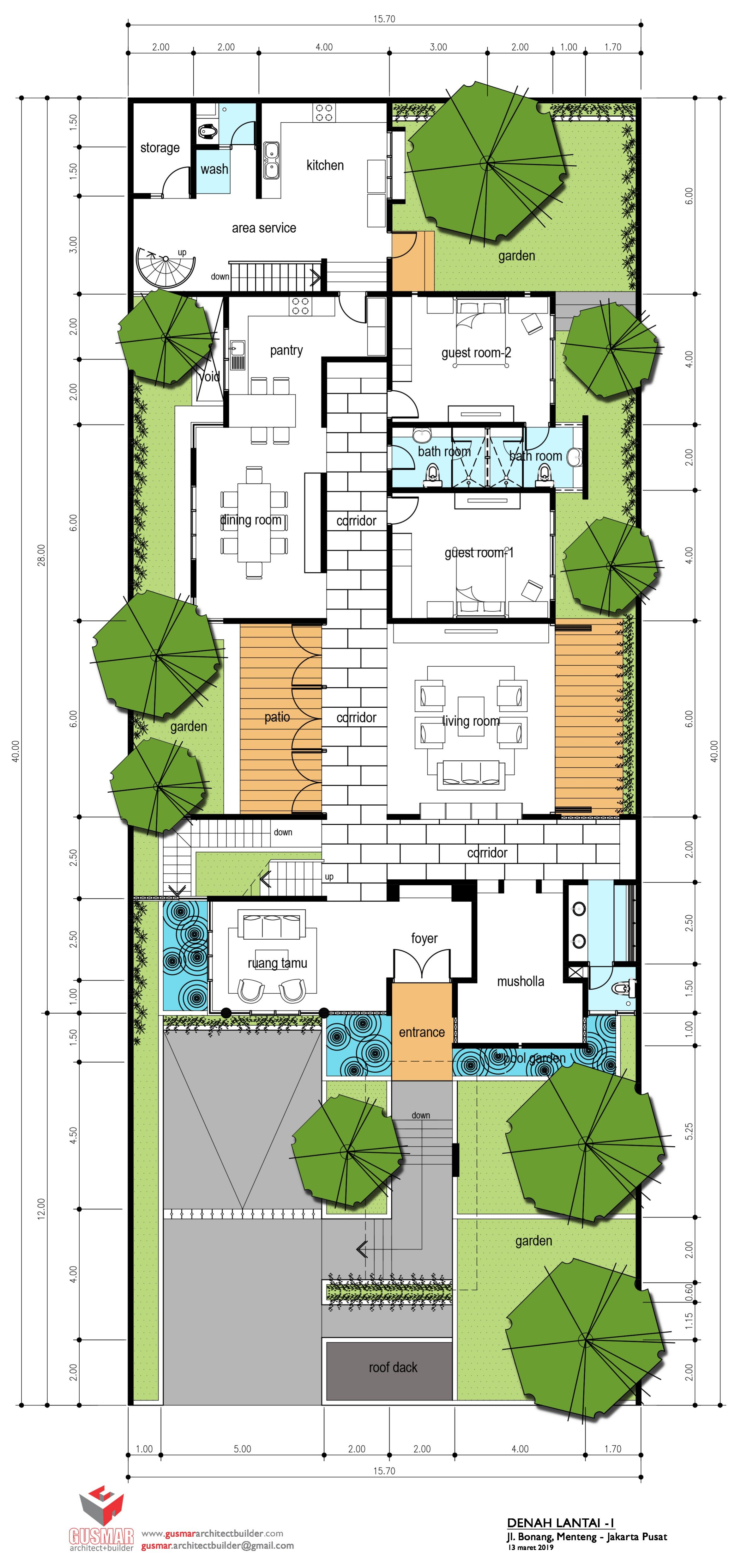 Proyek Rumah Tinggal Menteng Architecture Floor Plans Projects