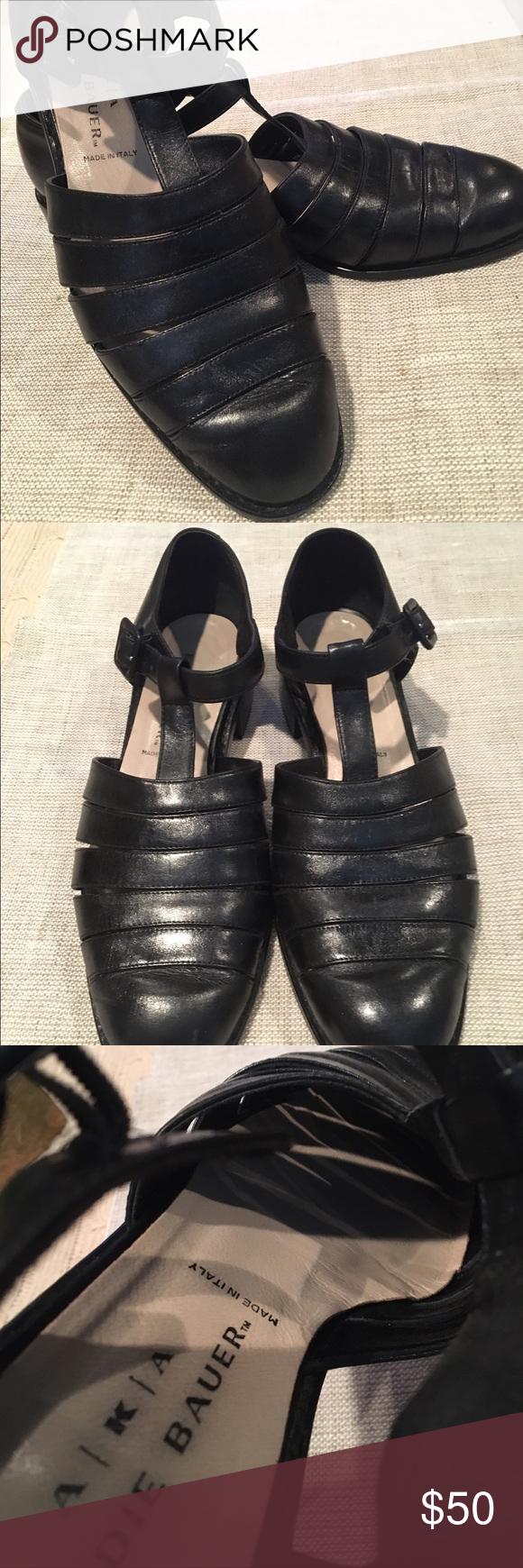 AKA Eddie Bauer leather fisherman sandals (Sz 8.5M