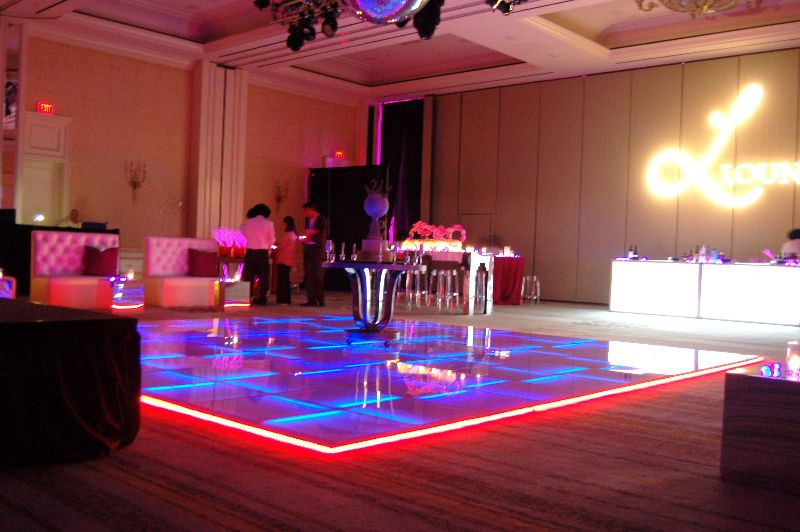Our LED Dance floor is only 1.25 inches high and