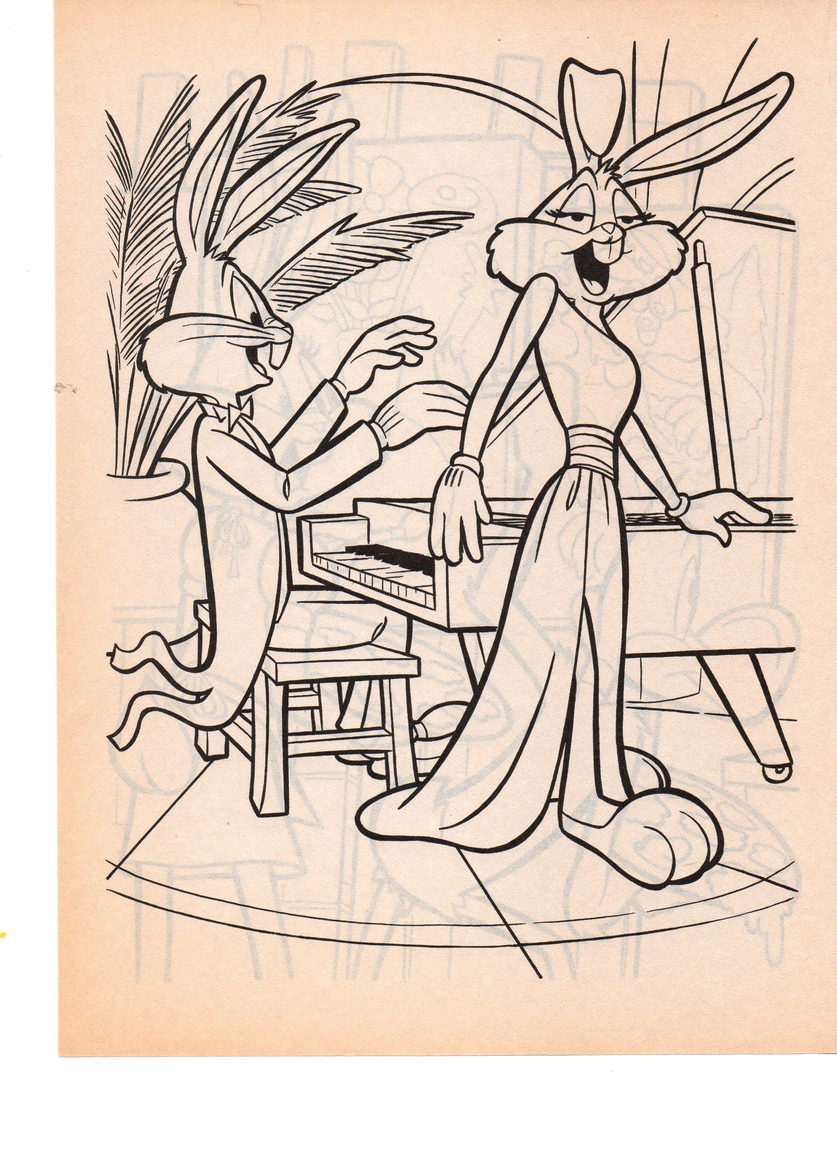 LOONEY TUNES BUGS N HONEY BUNNY | Coloriage mixte | Pinterest