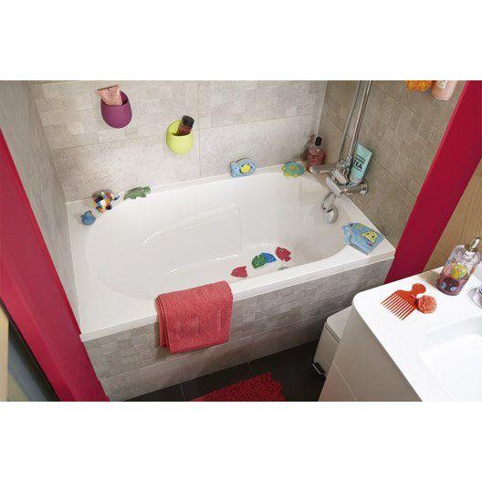 Baignoire rectangulaire L120x l70 cm blanc, SENSEA Access confort