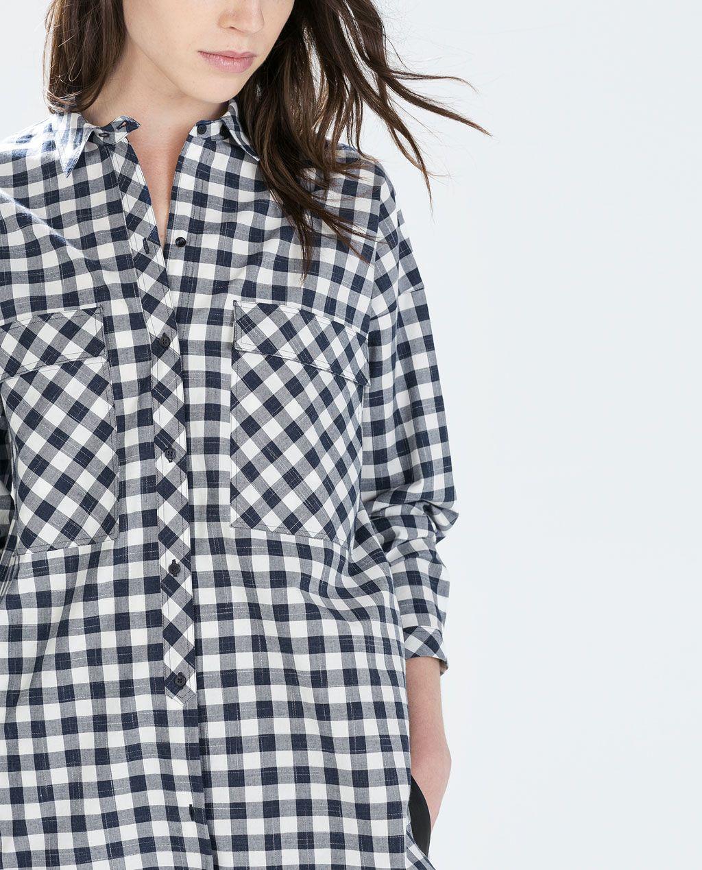 OversizeWishlist Camisas Mujer Cuadros Zara Camisa gfyY6b7