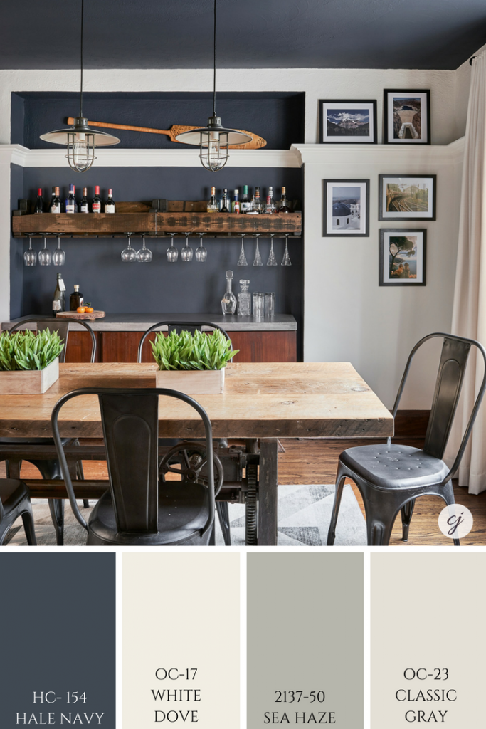White Dove by Benjamin Moore Colour Review Dining room