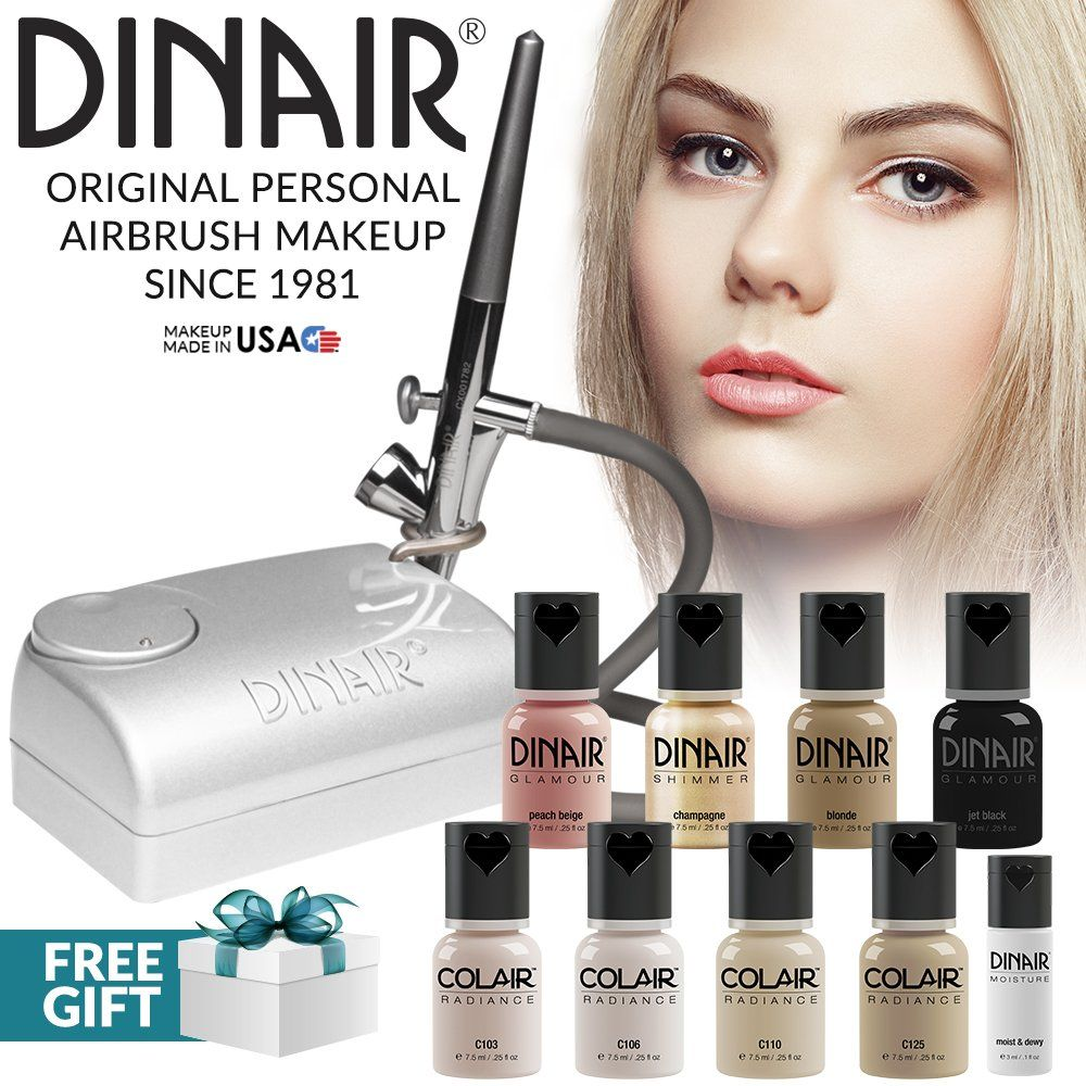 Dinair Airbrush Professional Makeup Kit Fair Shades 4pc