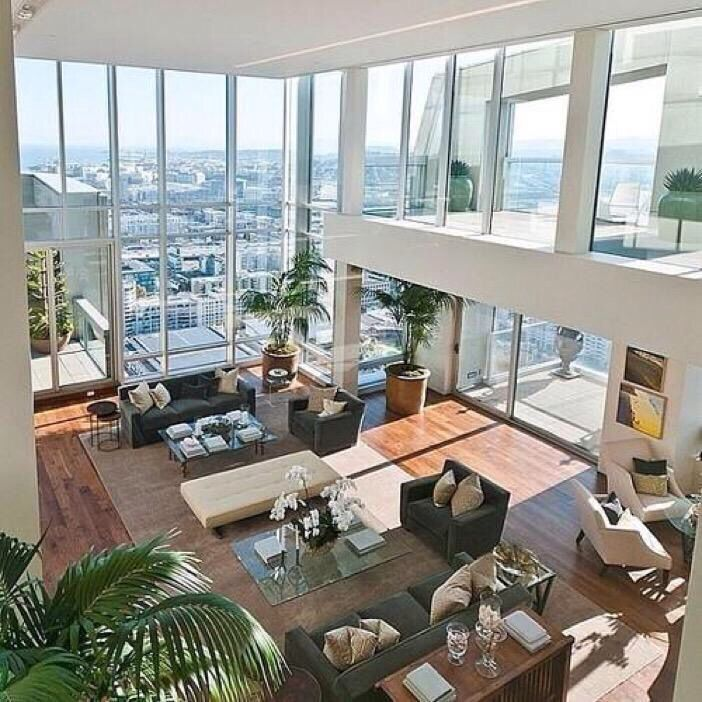 Glass pent house just wow pinterest haus zuhause for Yesss wohnzimmer