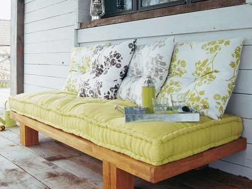 Canapé droit en bois Home